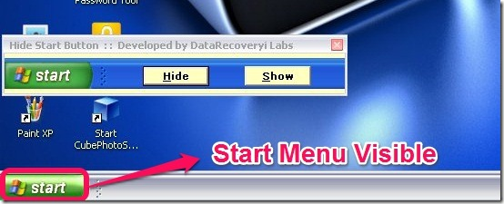 How To Hide Start Menu Icon in Windows XP