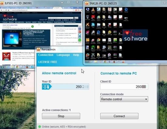 Aeroadmin- access PC remotely