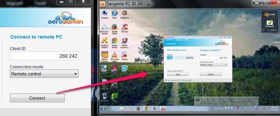 Access PC Remotely With Aeroadmin, Establish Parallel