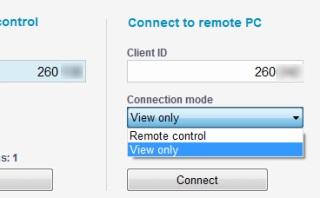 Aeroadmin- select connection mode