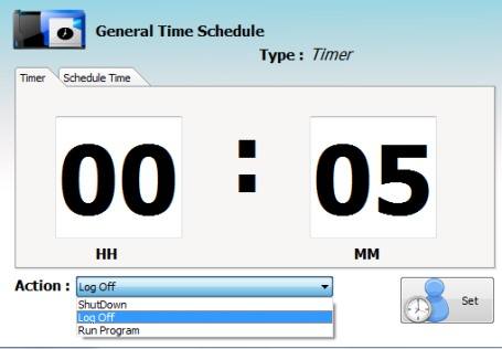 Andreal AppAction- add timer to auto run an application or shutdown pc