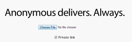 AnonymousDelivers- upload a file