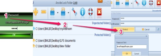 Anvide Lock Folder- password protect folders