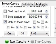 Auto Screen Capture- schedule screen capture session