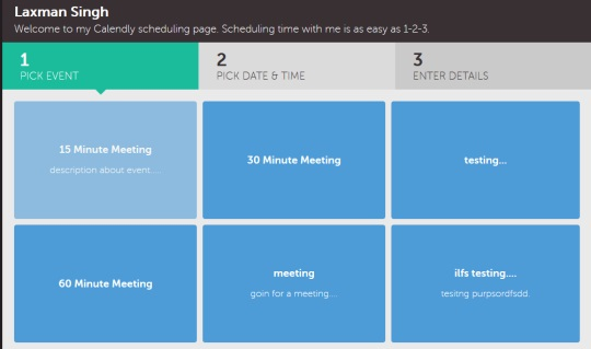 Calendly- calendly scheduling page