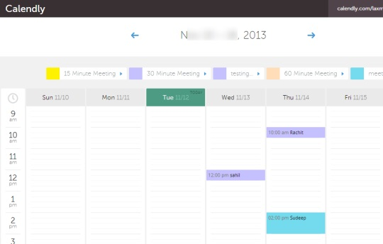 Calendly- onilne appointment scheduling service