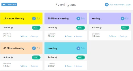 Calendly- select an event