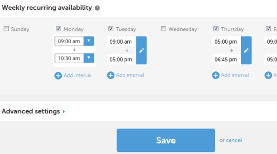 Calendly- set weekly recurring avilability