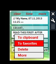 Clipboard Manager- main gadget