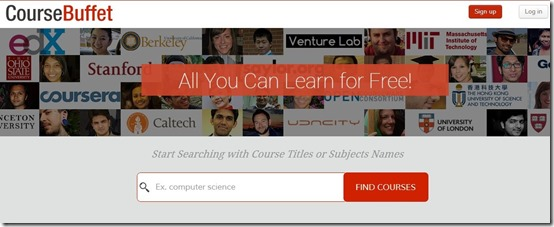 CourseBuffet-online learning-home page