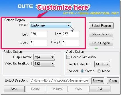 Cute Screen Recorder- screen recorder-customize screen region