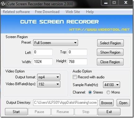Cute Screen Recorder- screen recorder-interface
