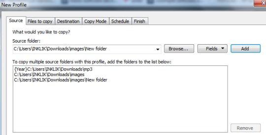 Cyotek CopyTools- add folders to copy