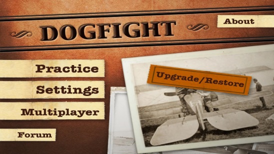 Dogfight - main screen