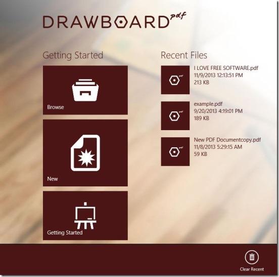 Drawboard PDF - main screen
