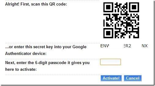 Dreamhost Authentication QR Code