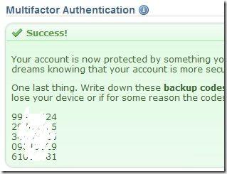 Dreamhost Multifactor Authentication Success