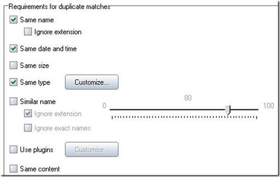DupKiller-duplicate file finder-settings menu
