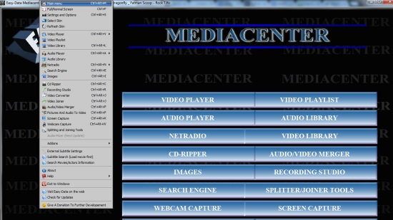 Easy-Data Mediacenter 2013- interface