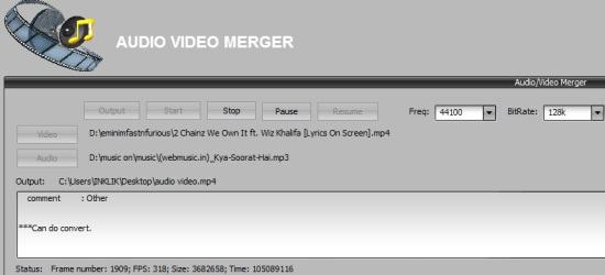 Easy-Data Mediacenter 2013- merge video and audio file