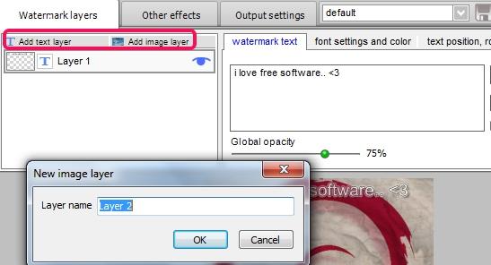 Easy Watermark Studio Lite- add text or image watermark layers