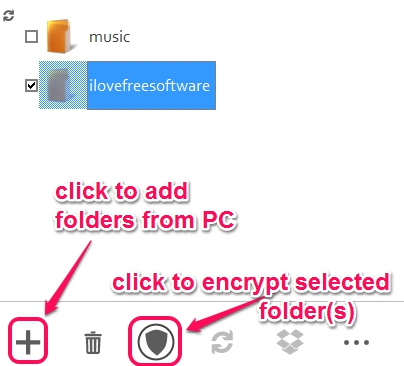 FREEFilePro7- encrypt selected folders