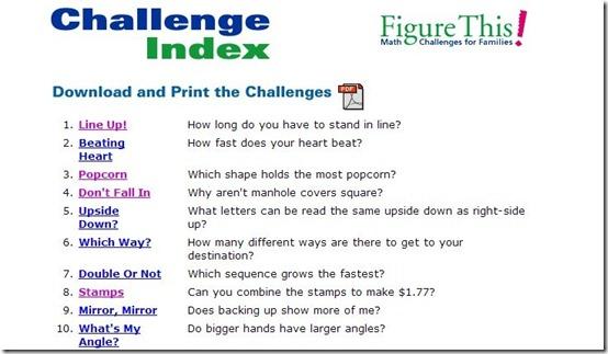 Figure This-math website-challenge index