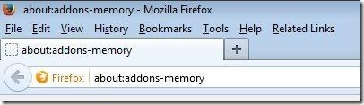 Firefox Addons Memory new Tab