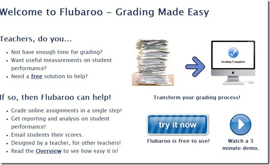 Flubaroo-online grading tool-home page