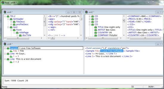 Foxe WYSIWYG XML Editor