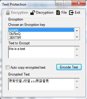 Free Advanced Text Editor - Vikon - Text Protection