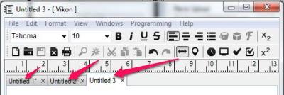 Free Advanced Text Editor - Vikon - Tabs