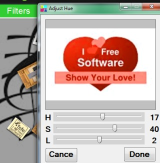 Free Collage Maker- add filters to a selected photo