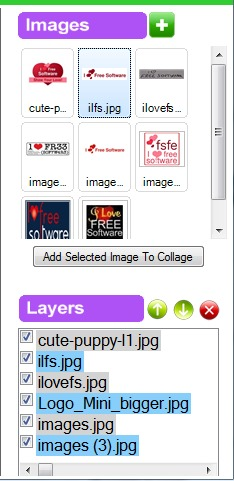 Free Collage Maker- add images and insert them for creating the collage