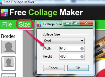 Free Collage Maker- customize width & height for output photo collage
