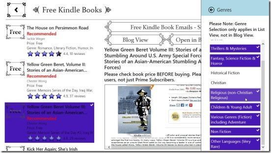 Free Kindle Books - filtering books