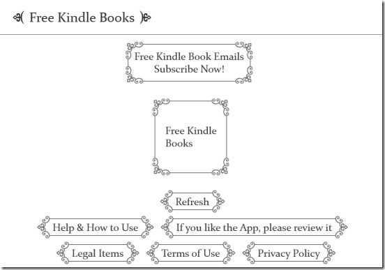 Free Kindle Books - main screen