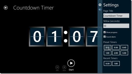 Free Timer - countdown settings