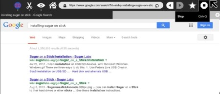 Free linux os for learning - Sugar on Stick - Interface - Inbuilt Browser
