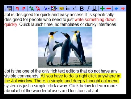 Free note taking software - Jot Tec - Borderless
