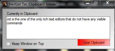 Free note taking software - Jot Tec - Clipboard