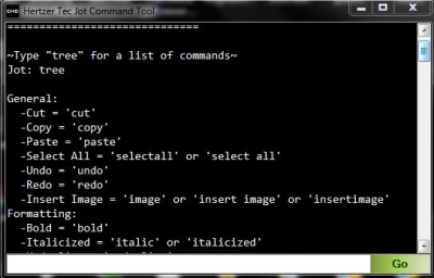 Free note taking software - Jot Tec - Command Tool