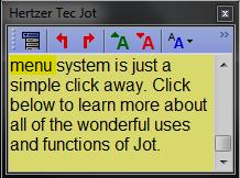 Free note taking software - Jot Tec - Sticky note mode