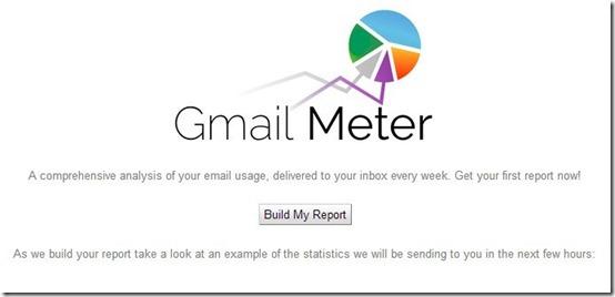 Gmail Meter- email analytics-build report