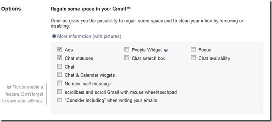 Gmelius-Gmail cleanup-options