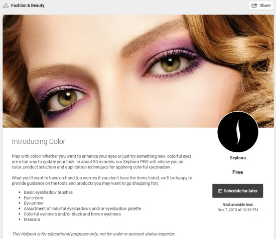 Helpout Introducing Color by Sephora