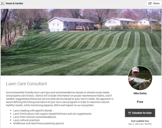 Helpout Lawn Care Consultant by Mike Bailey