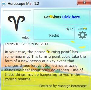 Horoscope Mini- interface