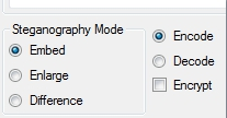Image Steganography- select the steganography mode