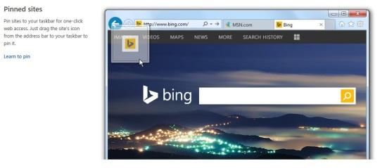 Internet Explorer 11 - Pinning Sites